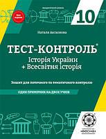 Тест-контроль Історія України + Всесвітня історія 10кл до програми ЗНО 2018 р.