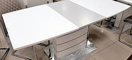Стол обеденный раскладной в стиле модерн Houston   (Хьюстон) DT-9123-1   Evrodim, White Satin