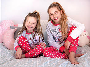 Детская пижама для девочки Tobogan Испания 87201 Серый меланж
