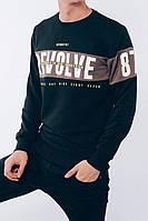 Мужской свитшот черный Revolve, фото 1