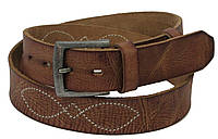 Ремень мужской под джинсы ALWAYS WILD кожаный 119 см Коричневый PSI-S8-K-52975, КОД: 1332345