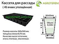 Кассеты для рассады Польша 40 ячеек, размер кассеты 36х56см толщина 0.75мм, фото 1