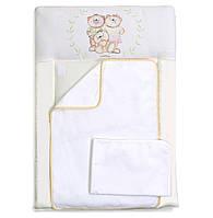 Пеленальный матрас для новорожденных тканевый  Veres Nice Family бежевый