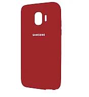 Чехол Silicone Case для Samsung Galaxy J2 Core J260 2018 прорезиненный оригинальный