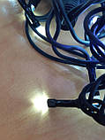 Світлодіодна гірлянда Нитка Flash 10м 100 лід 2,2 мм Біла/Чорний, фото 3