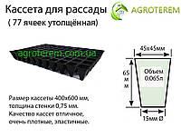Кассеты для рассады Польша 77 ячеек,размер 40х60см толщина стенки 0,75мм, фото 1