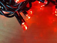 Светодиодная гирлянда нить DELUX String 10м 200 LED красный/черный, фото 1