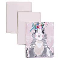 Сменный постельный комплект Veres Summer Bunny pink 3 ед.