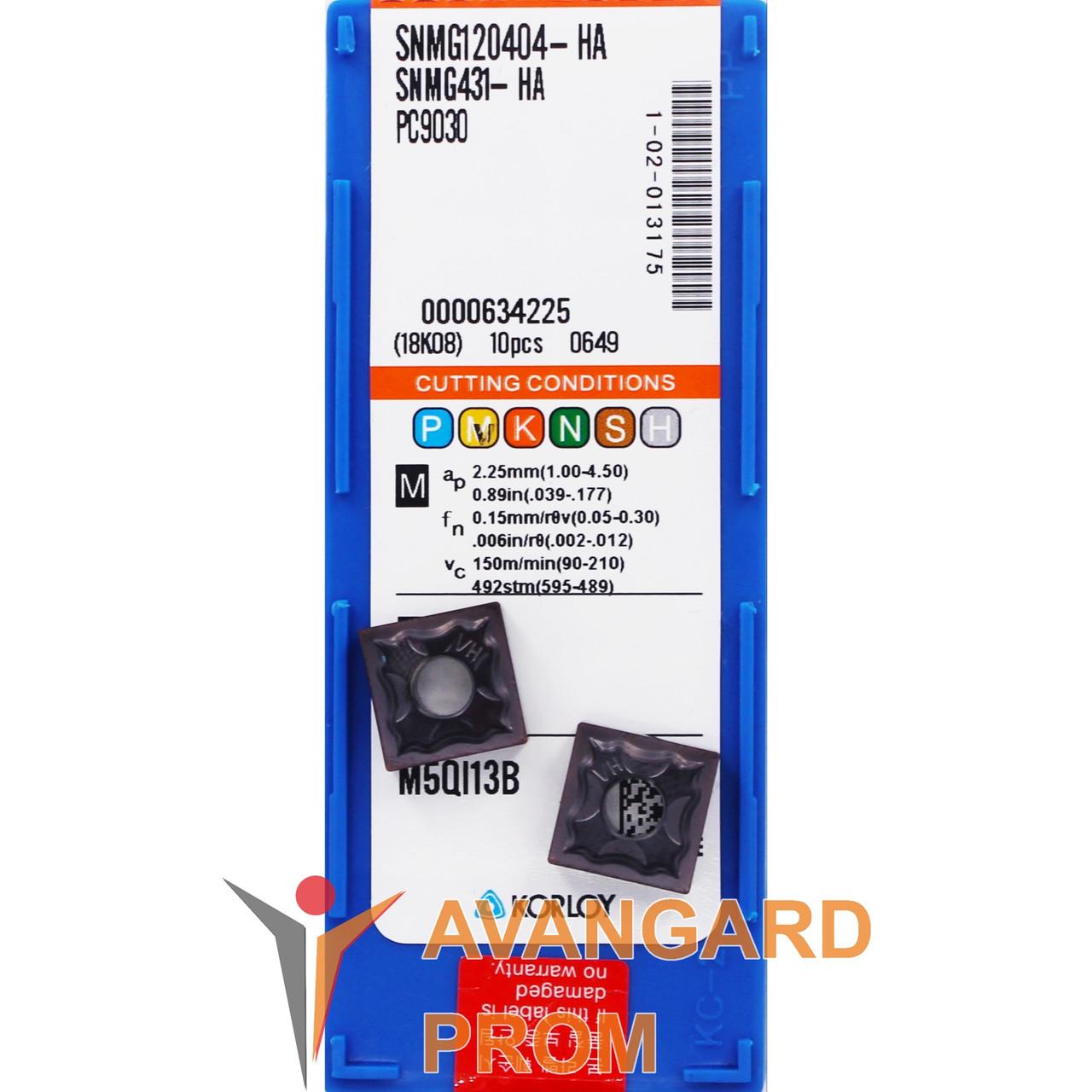 Пластина KОRLOY SNMG120404-HA PC9030