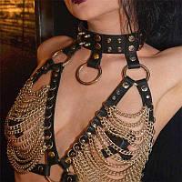 Портупея BDSM style FestivalQueen сексуальные the petals of the chest
