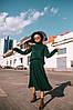 """Очень красивый вязаный костюм : юбка плиссе и объемный свитер """"Джули"""". Разные цвета.  (10979), фото 7"""