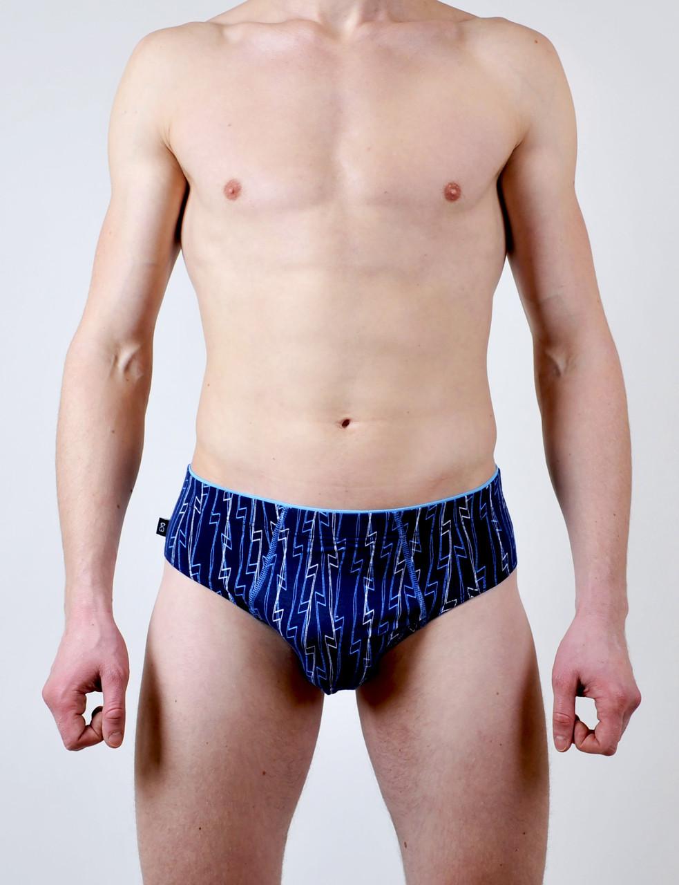 Мужские трусы - слип C+3 #195 L синий