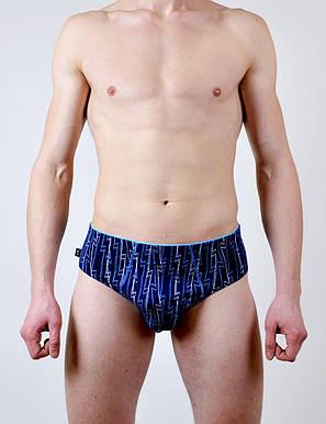 Мужские трусы - слип C+3 #195 L синий, фото 2