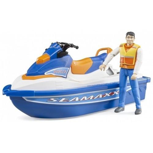 Игрушка Bruder  игровой набор-водный транспорт с водителем-63150
