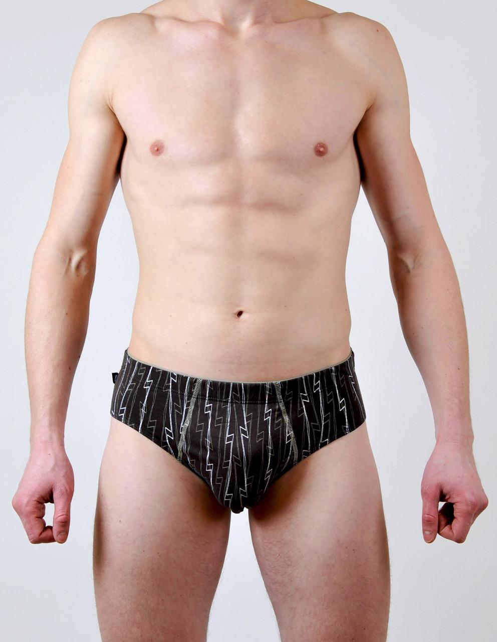 Мужские трусы - слип C+3 #195 L коричневые