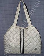 Cумка Adidas 013380 белая с черным из текстиля женская спортивная