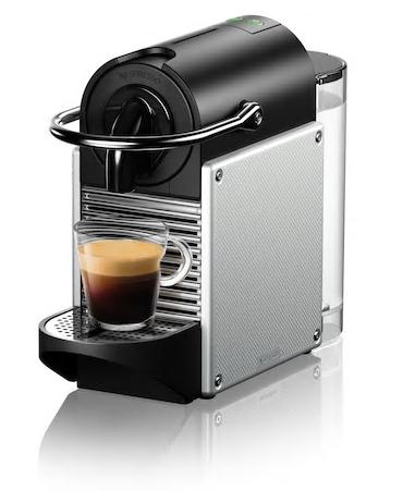 Кофеварка Nespresso Pixie Electric Aluminium C61. Неспрессо Пикси