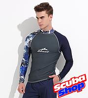 Рашгард лайкровый Sbart Serf Blue для плавания