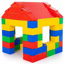 Конструктор строительный Домик 134 детали Wader 37473