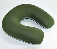 🔝 Подушка подголовник для путешественника  Memory Foam Travel Pillow - Хаки, с доставкой   🎁%🚚