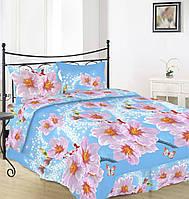 Комплект постельного белья Вилена бязь Голд двуспальный размер Цветы яблони розовые