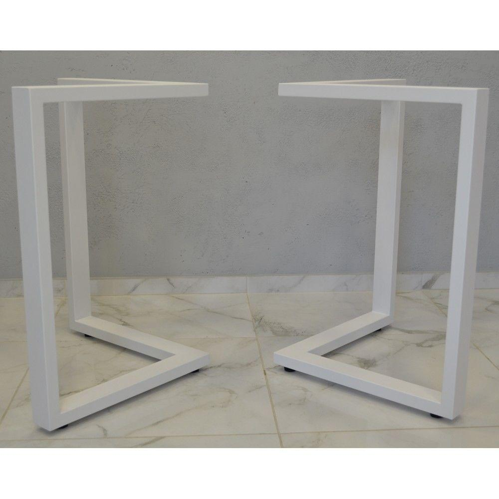 Білі металеві опори для столів лофт N45 від виробника