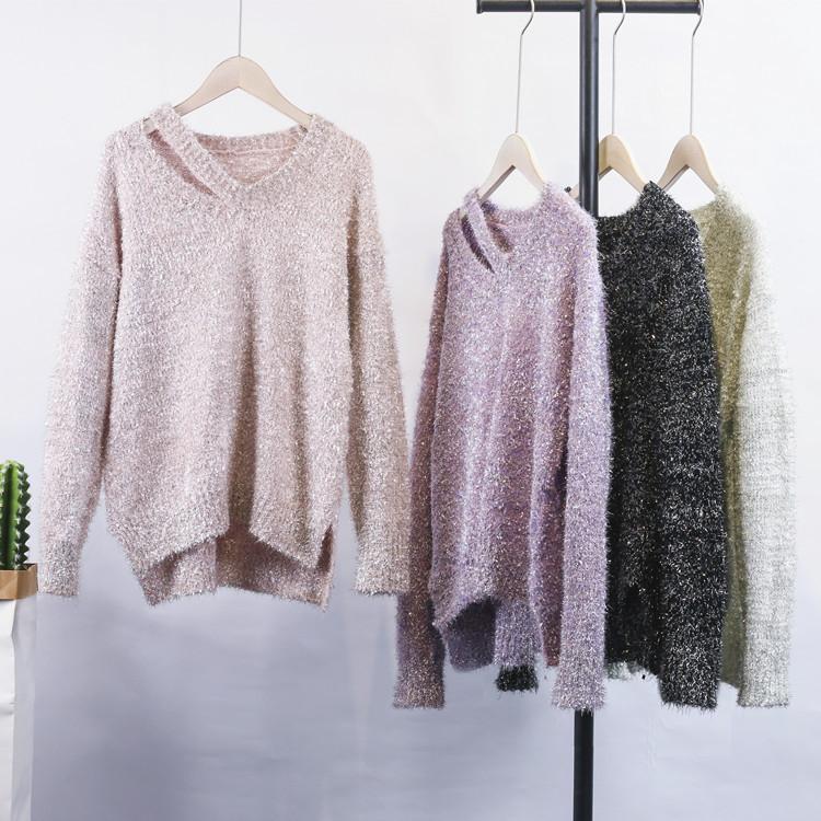 Мягкий и блестящий свитер Китай 44-48 (в расцветках)