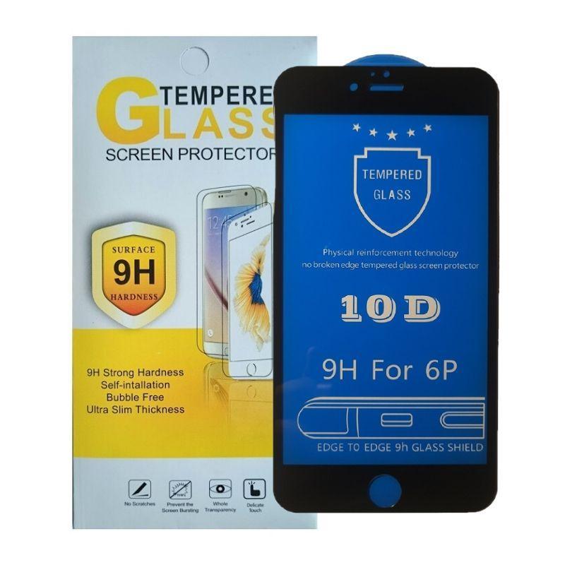 Защитное стекло iPhone 6 Plus / 6S Plus черное 10D на весь экран