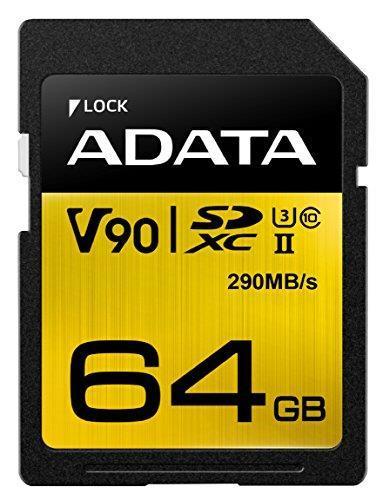 Карта памяти Adata SD Premier ONE 64GB SDXC UHS-II Class10 (ASDX64GUII3CL10-C)