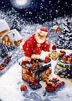 Luca-s Набор для вышивания Дед мороз на крыше