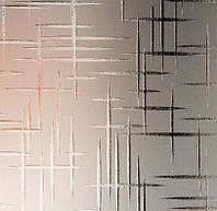 Узорчатое рифленное стекло Лабиринт бронза 4мм