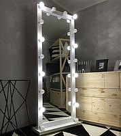 Напольное зеркало с подсветкой на колесах НП-3