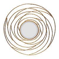 Зеркало круглое паутина золото 80см
