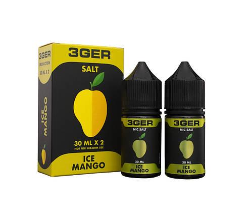 3GER Salt Ice Mango 50mg 30ml - сольова рідина для pod систем., фото 2