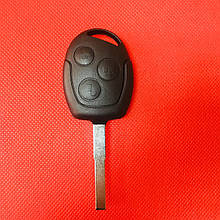 Ключ Ford (Форд)  Mondeo Мондео, Focus Фокус 3 кнопки 433MHz чип ID4d63 лезвие HU101