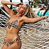 Раздельный купальник леопардовый принт на завязках размер  М, фото 5