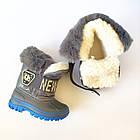 Зимние непромокаемые сноубутсы, р. 28, 30, 31, 32 ТМ Канарейка. Теплые на меху, фото 2