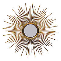 Зеркало настенное солнце золото 80см