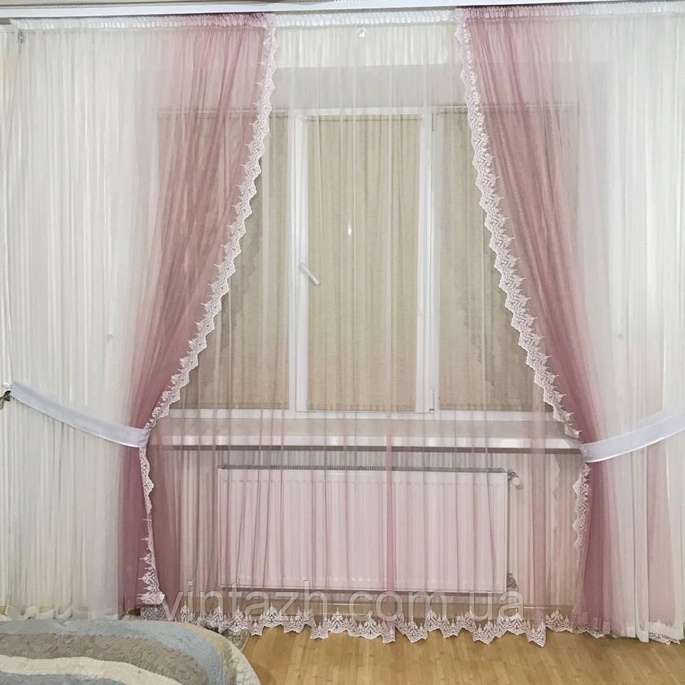 Модный  комплект штор в спальню  недорого  от производителя
