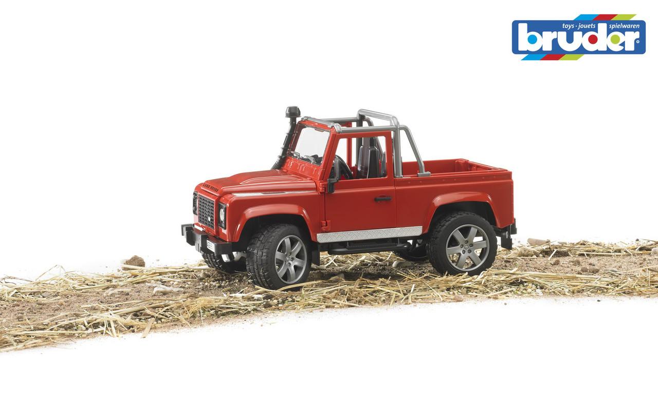 Игрушка - машинка Bruder  джип  Land Rover Defender Pick Up-М1:16-02591