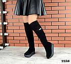 Зимние женские ботфорты черного цвета, натуральная замша 40 ПОСЛЕДНИЕ РАЗМЕРЫ, фото 5