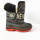 Непромокаемые ботинки -  сноубутсы зимние, р. 28, 29, 30, 31, 32 ТМ Канарейка. Теплые на меху, фото 3