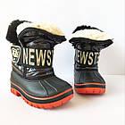 Непромокаемые ботинки -  сноубутсы зимние, р. 28, 29, 30, 31, 32 ТМ Канарейка. Теплые на меху, фото 5