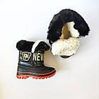 Непромокаемые ботинки -  сноубутсы зимние, р. 28, 29, 30, 31, 32 ТМ Канарейка. Теплые на меху, фото 2