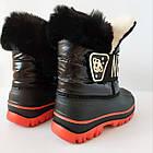 Непромокаемые ботинки -  сноубутсы зимние, р. 28, 29, 30, 31, 32 ТМ Канарейка. Теплые на меху, фото 8
