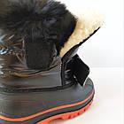 Непромокаемые ботинки -  сноубутсы зимние, р. 28, 29, 30, 31, 32 ТМ Канарейка. Теплые на меху, фото 6