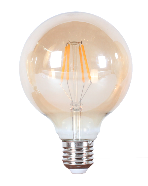 LED лампа филомент  G95-4W-8