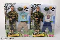 Кукла DEFA 30см 8412 парень военный с аксес.2цв.лист 33*5,5*25 /24/ (8412)