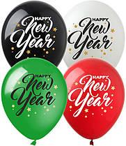 """Латексные шарики """"Happy New Year!"""", (20 шт/уп), (зеленый+красный), NG-15, ArtShow"""