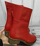 Ботинки демисезонные на удобном каблучке из натуральной кожи от производителя модель НИ304-7-3В, фото 2
